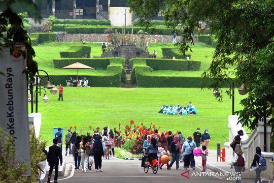 Hijaunya nuansa liburan di kebun raya Bogor