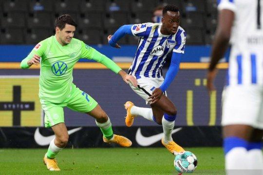 Hertha Berlin stop rentetan kekalahan beruntun saat imbangi Wolfsburg