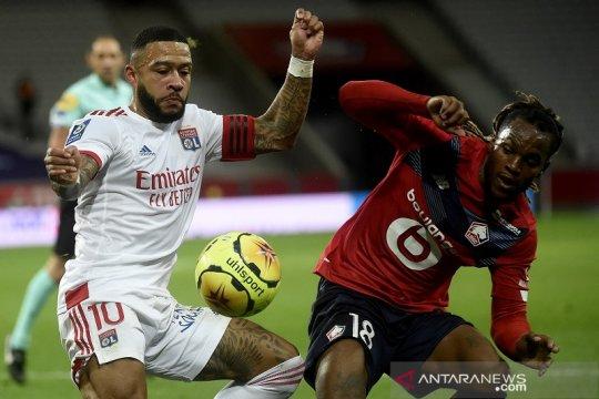 Lille gagal menang lawan 10 pemain Lyon