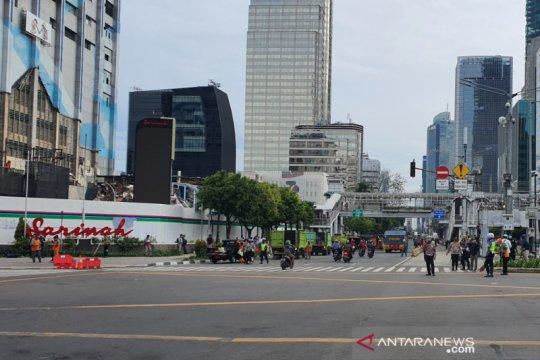 Massa aksi di Kedubes Prancis bubar, Jalan MH Thamrin kembali dibuka