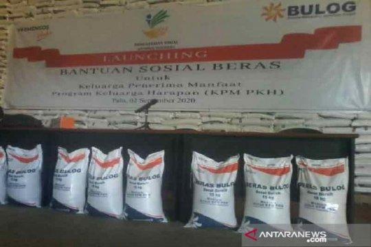 Penyaluran bansos beras PKH di Sulawesi Tengah sudah rampung