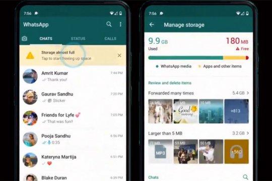 Memori cepat penuh, WhatsApp buat lebih mudah kelola penyimpanan