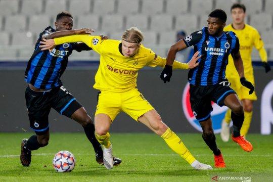 Haaland sumbang dwigol saat Dortmund menang 3-0 di kandang Brugge