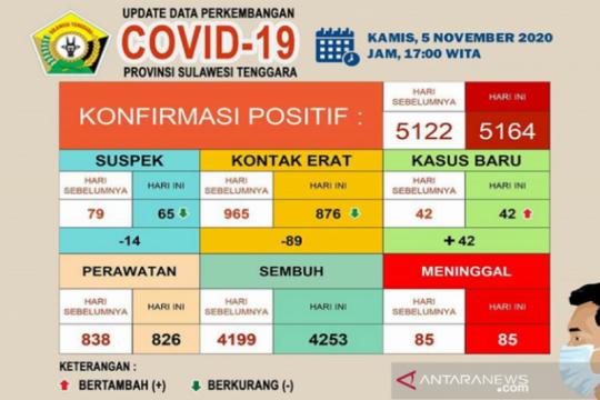 Pasien COVID-19 sembuh di Sultra sebanyak 4.253 orang
