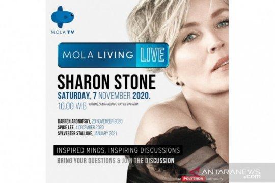 Sharon Stone akan bagi kisah hidup bareng Reza Rahardian di Mola TV