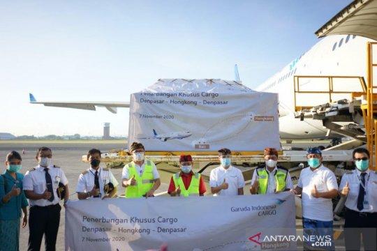 Garuda layani rute khusus kargo Denpasar-Hong Kong