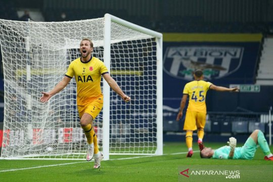 Gol tunggal Harry Kane antarkan kemenangan Tottenham Hotspur atas West Bromwich Albion
