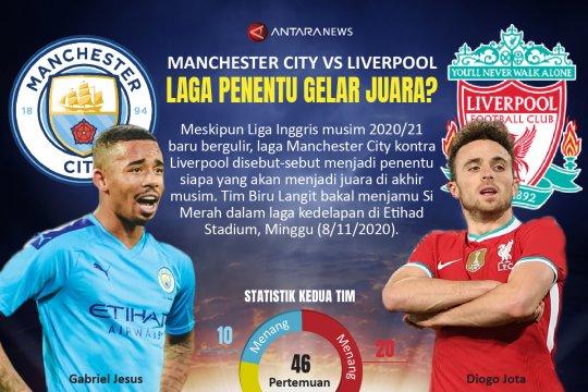 Manchester City vs Liverpool, laga penentu gelar juara?