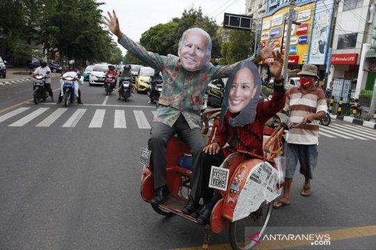 Warga Solo rayakan kemenangan Joe Biden-Kamala Harris