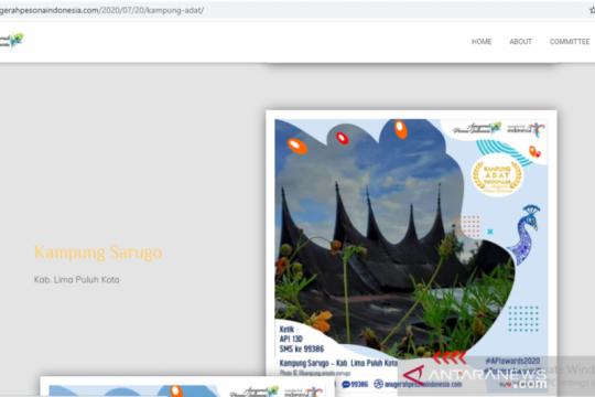 Kampung Sarugo bersaing dalam Anugerah Pesona Indonesia 2020