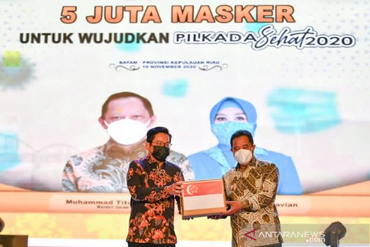 Kepri kembali terima bantuan 1,5 juta masker dari Singapura
