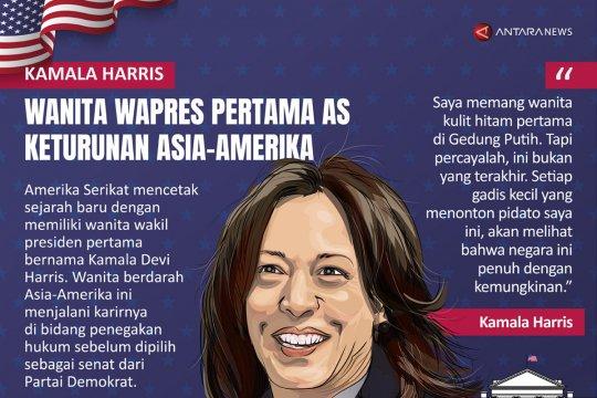 Kamala Harris, wanita Wapres pertama AS keturunan Asia-Amerika