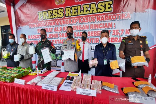 Polresta Banjarmasin Kalsel cetak rekor tangkapan 42,9 kg narkoba