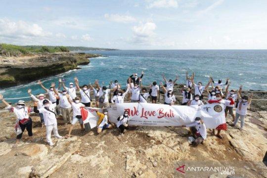 """Peserta """"We Love Bali"""" kampanyekan CHSE di Nusa Penida dan Lembongan"""