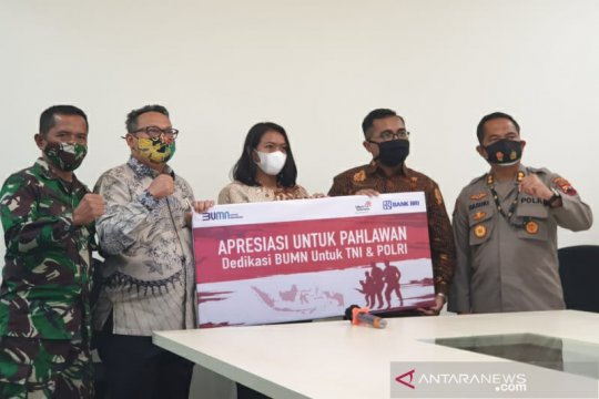 BRI berikan beasiswa anak TNI/Polri total Rp800 juta