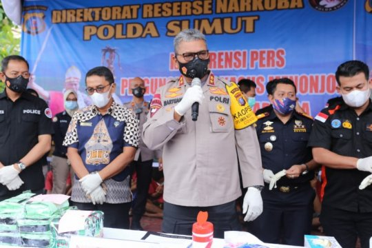 Kapolda Sumut: 151,71  kg sabu-sabu barang bukti dimusnahkan
