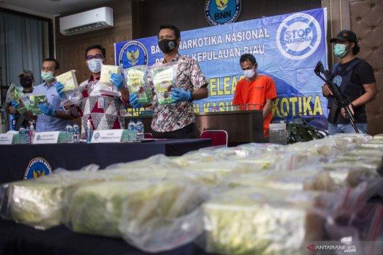 BNN Kepri gagalkan upaya penyelundupan 33 kg sabu asal Malaysia