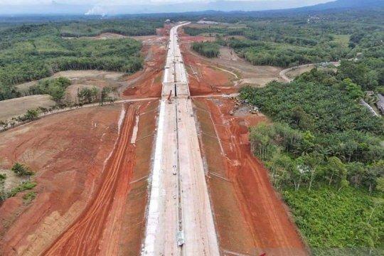 Jalan Tol Bengkulu-Sumsel tersambung 6,4 km, ditarget selesai 2021