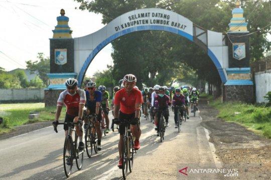 Gowes 2020 kilometer PON Papua tiba di Lombok
