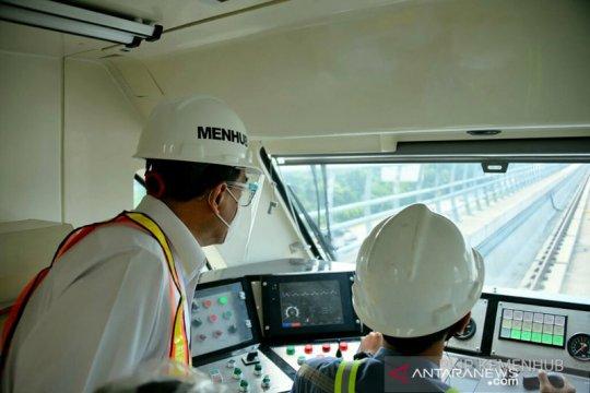 Menhub tinjau proyek LRT Jabodebek Dukuh Atas