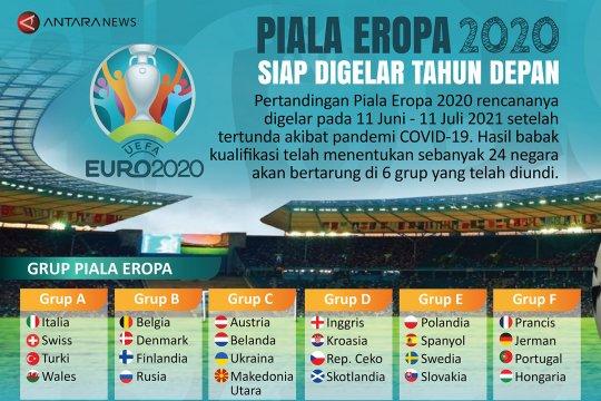 Piala Eropa 2020 siap digelar tahun depan