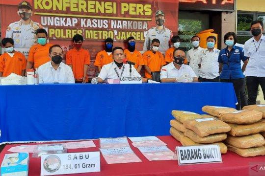 Polrestro Jaksel tangkap 25 pelaku narkotika jaringan lintas provinsi