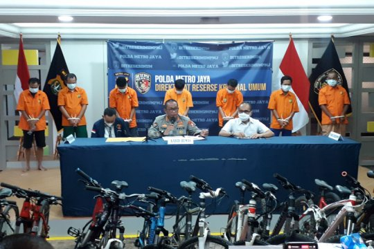 Polda Metro sita 34 sepeda curian dan tangkap tujuh malingnya