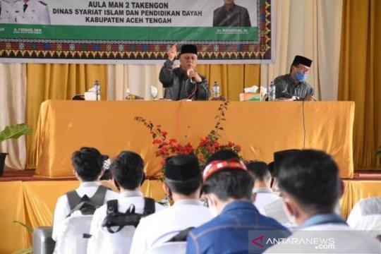 Pelajar di Aceh Tengah diedukasi penerapan Qanun Jinayat