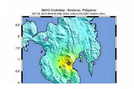 Gempa 5,2 magnitudo melanda Filipina selatan