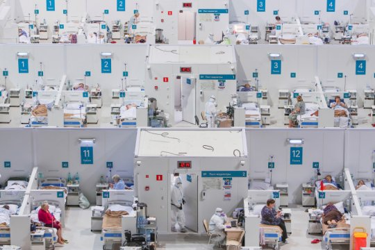 Moskow ubah arena seluncur es jadi rumah sakit COVID-19