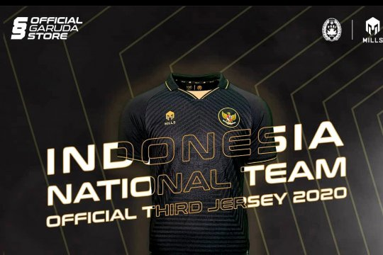 Warna hitam dominasi Jersey ketiga timnas Indonesia