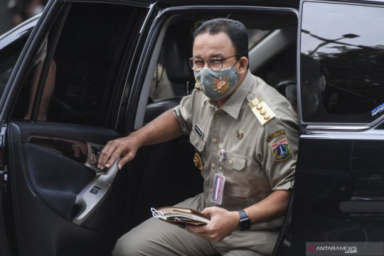 Anies Baswedan tiba di Polda Metro  Jaya