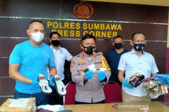 Polisi tangkap penerima paket sandal berisi 2 ons sabu-sabu