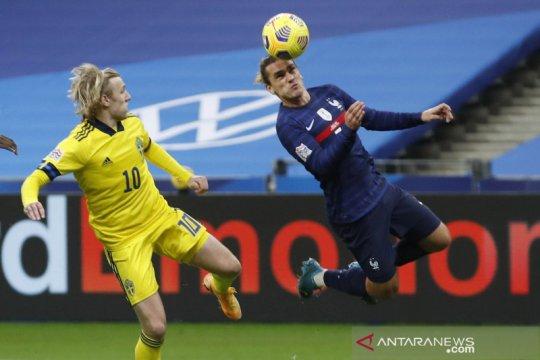 Prancis menang 4-2 atas Swedia