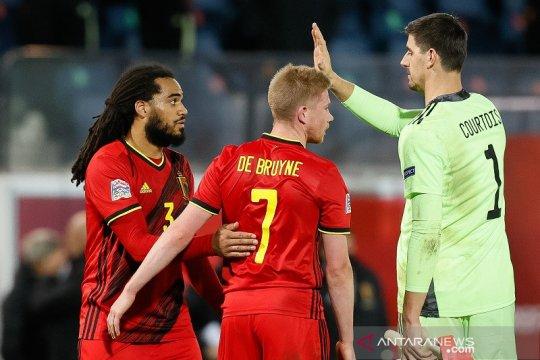 Courtois tegaskan Belgia tidak remehkan Denmark