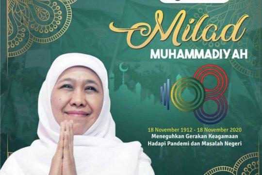 Gubernur Khofifah harapkan Muhammadiyah konsisten jaga cerahkan umat
