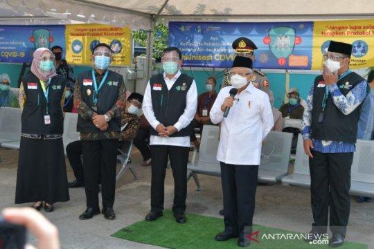 Wapres: Kantor TNI/Polri bisa untuk tempat vaksinasi COVID-19