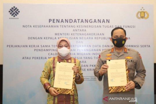 Kemnaker dan Polri perkuat sinergi pelindungan pekerja migran