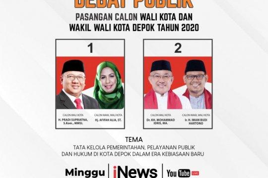 Tingkatkan partisipasi pemilih, KPU depok gelar debat tiga kali