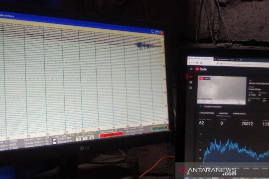 Gelombang seismik aktivitas Gunung Merapi mulai dinamis