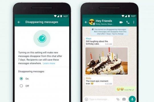 Cara aktifkan fitur pesan menghilang di WhatsApp