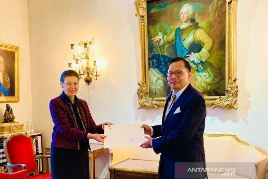 Dubes Kama serahkan surat kepercayaan kepada Raja Swedia