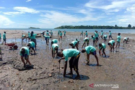 Pertamina RU VII dan mitra tanam 5.000 pohon bakau