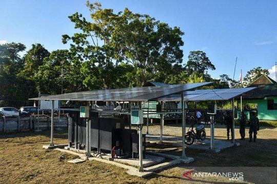 Listrik tenaga surya jangkau perbatasan Papua
