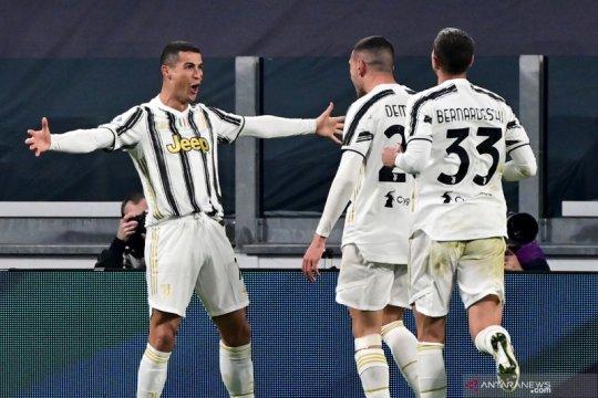 Dwigol Ronaldo bawa Juve menang 2-0 atas tamunya Cagliari