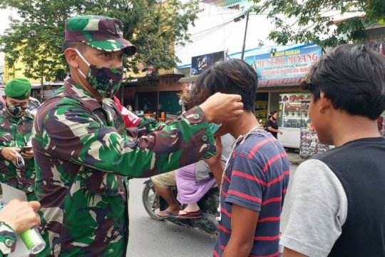 Kodam I/BB gelar operasi pendisiplinan prokes buat warga Medan