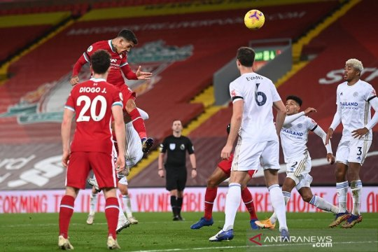 Liverpool tanduk Leicester lewat tiga gol sundulan