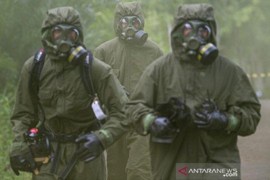 Latihan evakuasi korban ledakan gas beracun