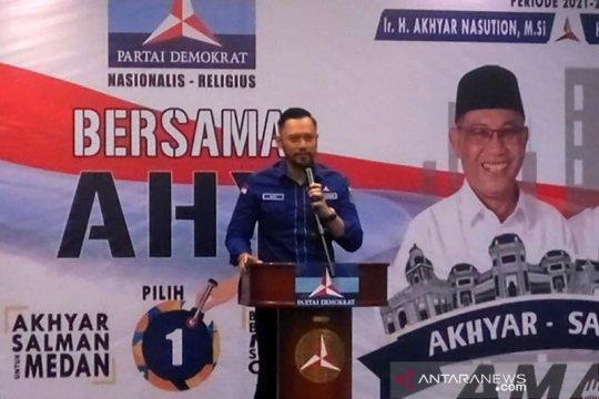 AHY minta seluruh kader maksimal menangkan Pilkada Medan