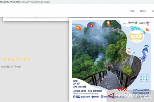 "Destinasi fotogenik ""Janjang Saribu"" jadi nominator API 2020"